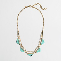 Factory turquoise cutout necklace