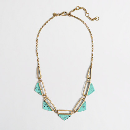 Turquoise cutout necklace