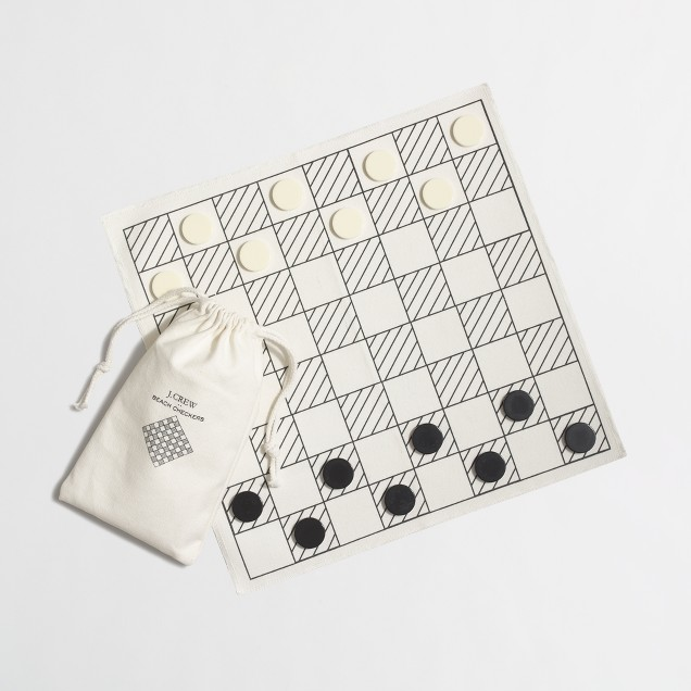 Beach checkers set