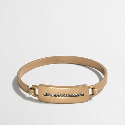 Golden latch bracelet