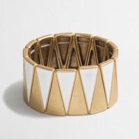 Two-tone triangle cuff bracelet