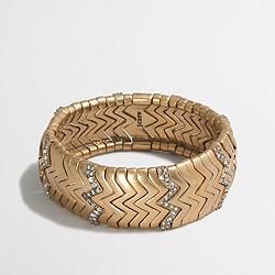 Factory golden zigzag cuff bracelet