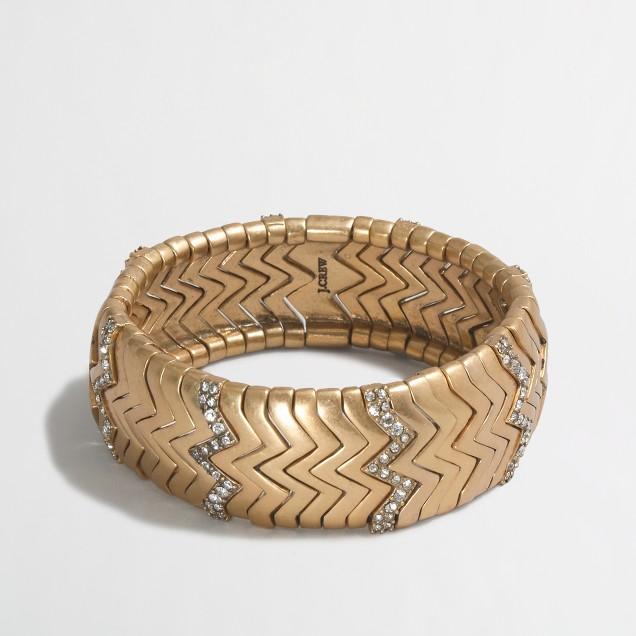 Golden zigzag cuff bracelet