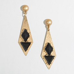Factory golden geometric earrings