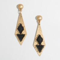 Golden geometric earrings