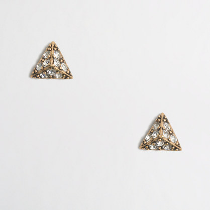 Crystal triangle earrings