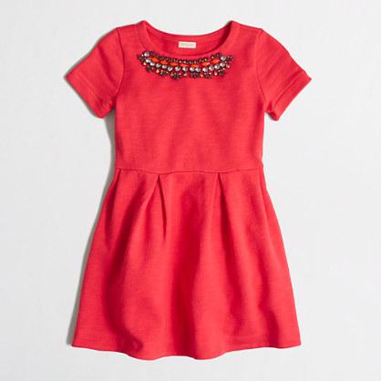 Girls' sweatshirt necklace dress