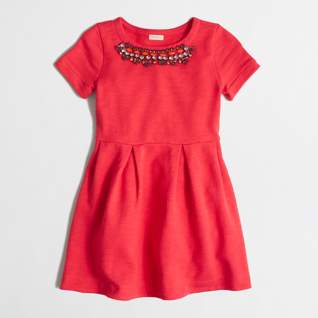Girls' sweatshirt necklace dress