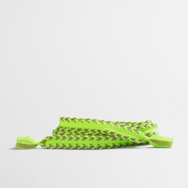 Neon chevron fabric belt