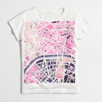 Girls' Paris street map keepsake T-shirt