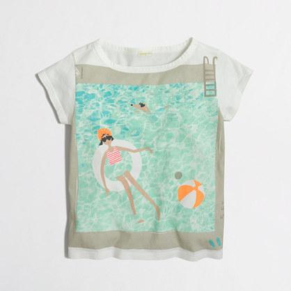 Girls' swimming pool keepsake T-shirt