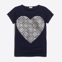 Girls' foil heart keepsake T-shirt