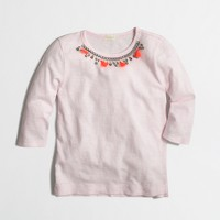 Girls' baseball necklace T-shirt