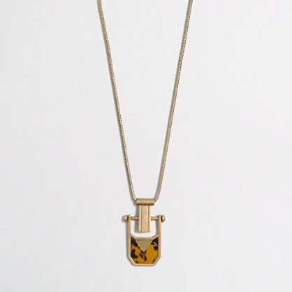 Golden tortoise pendant necklace