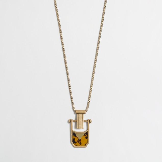 Golden tortoise pendant necklace