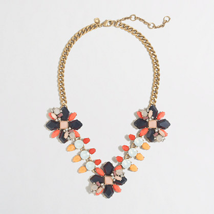 Floral path necklace