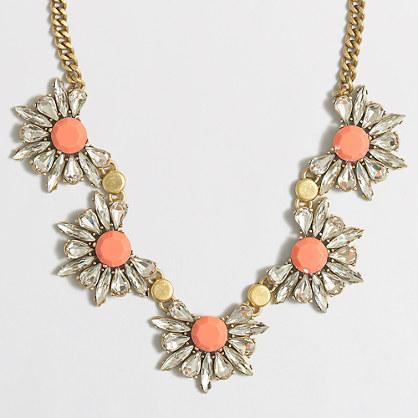Floral gemstone necklace