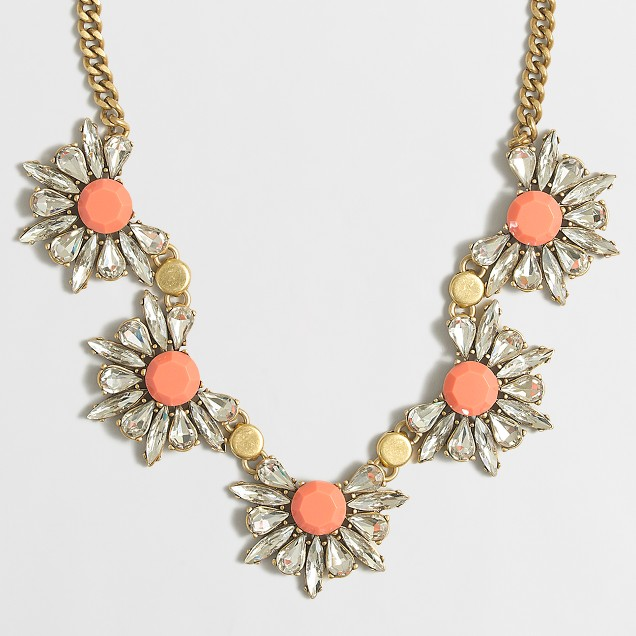 Floral gemstone necklace