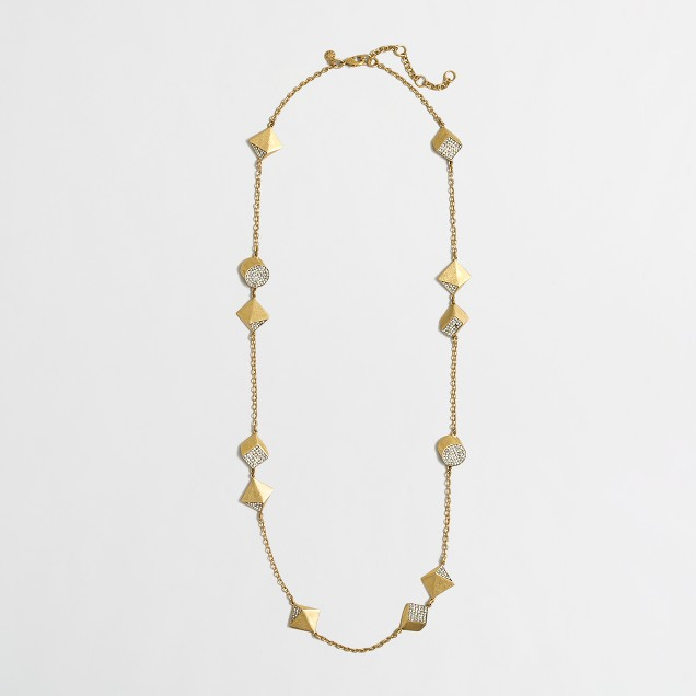Golden shapes necklace