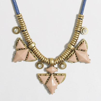 Triangle stone cord necklace