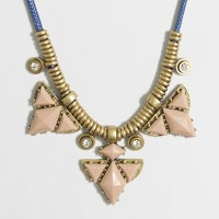 Triangle stone cord necklace