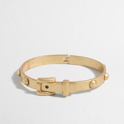 Golden belt-buckle bracelet