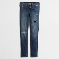 "Distressed skinny jean with 28"" inseam"