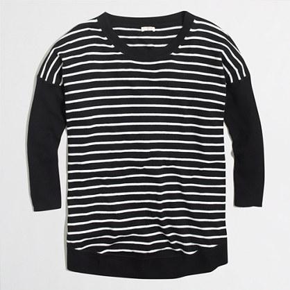 STRIPED drapey cotton sweater