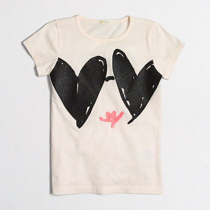 Girls' heart shades keepsake T-shirt
