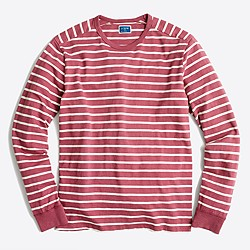 Long-sleeve deck-striped textured cotton T-shirt