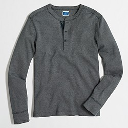 Twisted rib henley