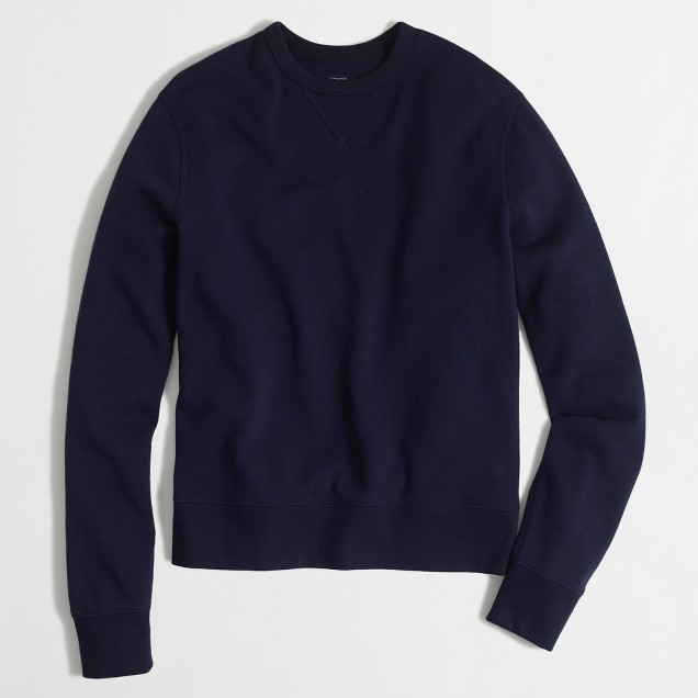 Tall lightweight fleece crewneck sweatshirt