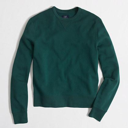Tall lightweight fleece crewneck sweatshirt