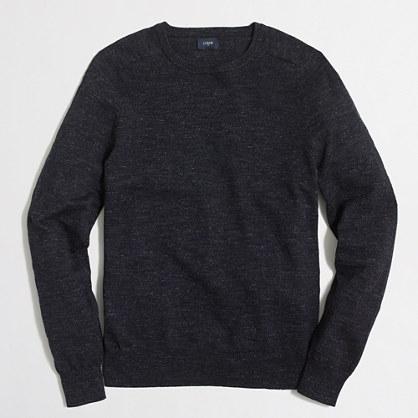 Tall textured cotton crewneck sweater