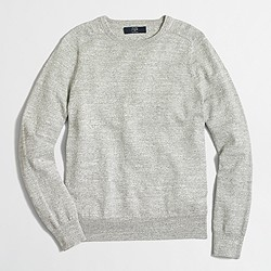 Factory textured cotton crewneck sweater