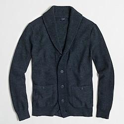 Factory heathered shawl-collar cardigan sweater