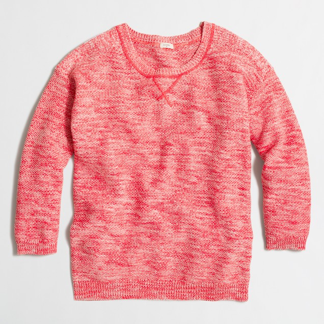 Seedstitch pullover sweater