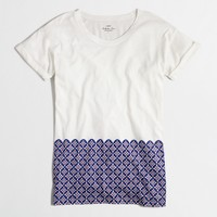 Tile hem collector T-shirt in airy cotton