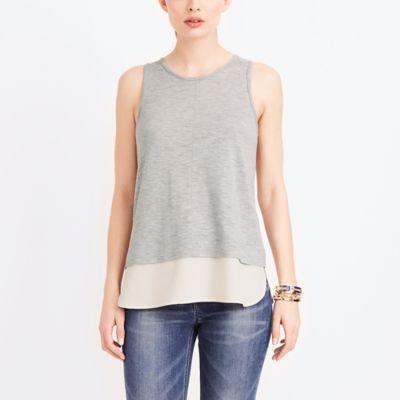 Drapey tank top with silky hem factorywomen shirts & tops c