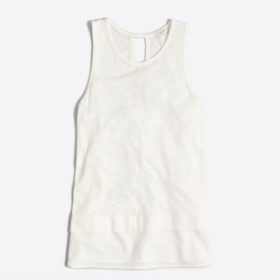 Drapey tank top with silky hem factorywomen knits & t-shirts c