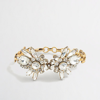 Crystal flower burst bracelet
