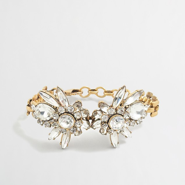 Crystal flower burst bracelet