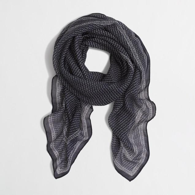 Paisley square scarf