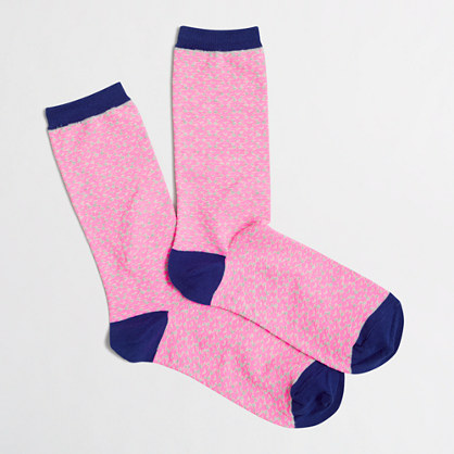 Geometric dot trouser socks
