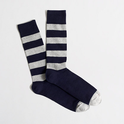 Wide-striped socks