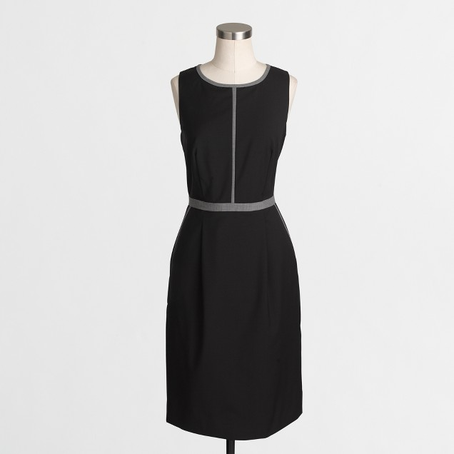 Tipped wool dress
