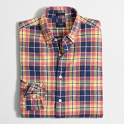 Slim plaid homespun shirt