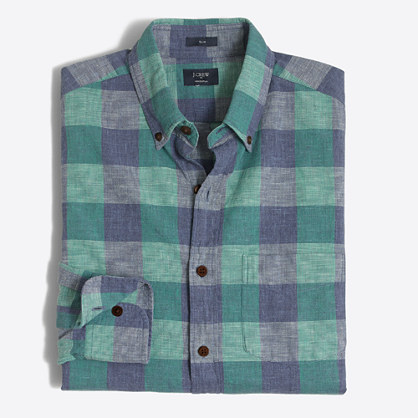 Tall plaid homespun shirt