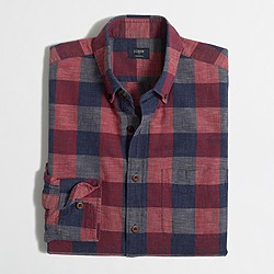 Plaid homespun shirt