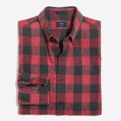 Slim plaid homespun shirt
